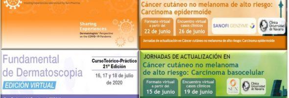 bocemtium organizará durante los próximos tres meses cuatro eventos y congresos virtuales en Dermatología